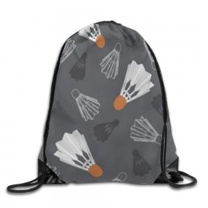 """Badminton""   Drawstring Bags 14""x 17"""