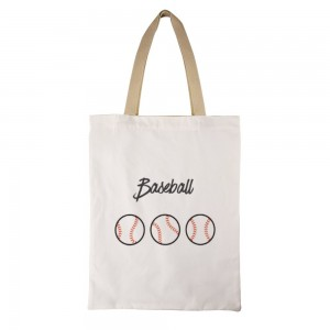 """Baseball"" Canvas Tote Bag"