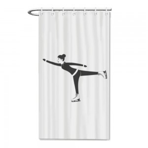 """Skating"" Bath/Shower curtain"