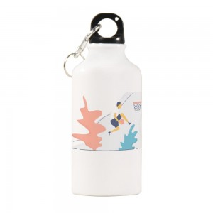 """Cute"" Sports Water Bottle White Color 13.5oz"