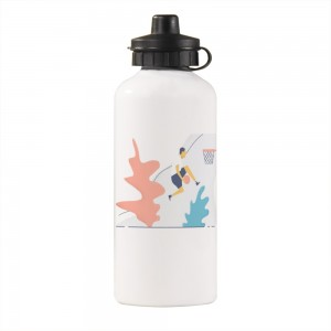"""Cute"" Sports Water Bottle White 20oz"