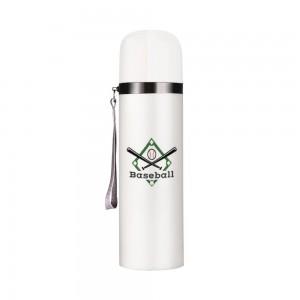 """""""Baseball"""" Customize Vacuum Bottle 12oz, White"""