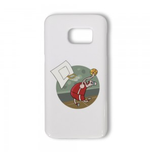 """Cartoon""""Basketball"" White TPU Phone case for SAMSUNG S6 S6E S7"