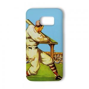 """Baseball"" White TPU Phone case for SAMSUNG S6 S6E S7"
