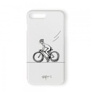 """Bicycle"" White TPU Phone case for IPHONE 7P/8P"