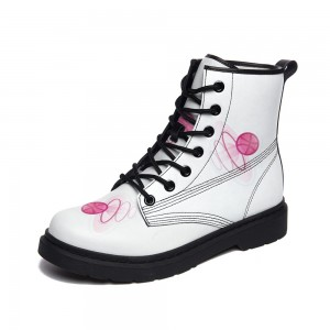 White Adult Full-print Boots
