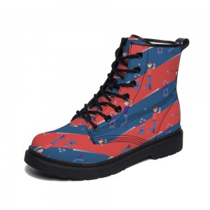 Red and Blue  Adult Full-print Boots