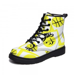 Black and Yellow Adult Full-print Boots