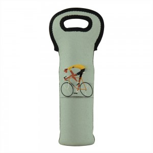 """Bicycle"" Wine Bag-Single Bottle 7"" x 15"""