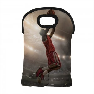 """Basketball"" Wine Bag-Double Bottle 10"" x 13"""