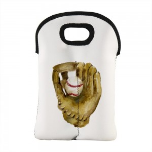 """Baseball"" Wine Bag-Double Bottle 10"" x 13"""