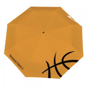 Basketball Customize Three fold Automatic umbrella