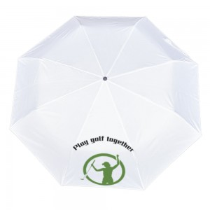 Golf Customize Three fold Automatic umbrella