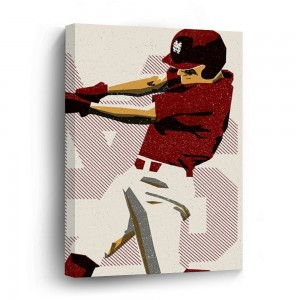 """Baseball""""Sports""""customize"" Wooden Framed Print Canvas Wall Art  Sign"