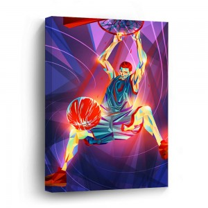 """Basketball""""Sports""""customize"" Wooden Framed Print Canvas Wall Art  Sign"