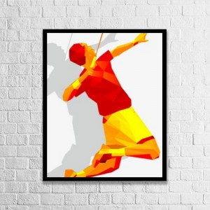 """Badminton""""customize"" Vertical Wood Pallet Design Wall Art Sign Plaque with Frame"