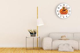 """Cute"" ""Pumpkin""  Stylish wall clock Round  9.8"" x 9.8"""
