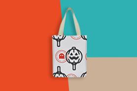 """""""Pumpkin""""  Canvas Tote Bag"""