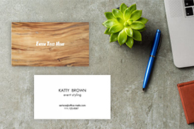 """""""Faux Wood"""" Horizontal Rectangle Business Card  Brown White, Quantity 100 sheets per pack"""
