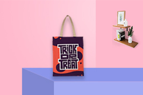 """""""Trick or Treat"""" Tote Bag  double-sided"""