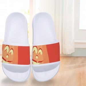 """""""Halloween Happy Pumpkin"""" Slides for Children White"""
