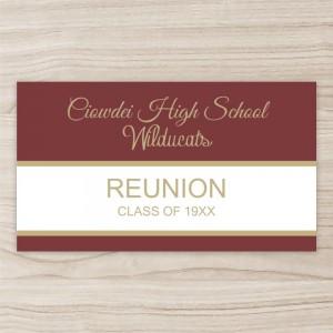 """""""Class Reunion"""" Horizontal Vinyl Banner"""