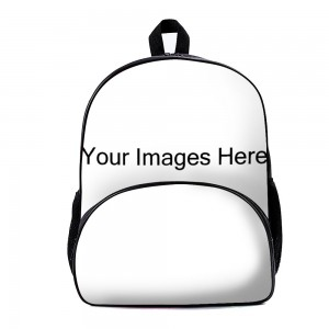"""customize"" Backpack School Bag with small front pocket 11.8"" x 15.7"" x 7"""