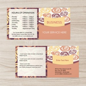 Rose Background Custom Business Brochure Two-fold, Yellow Orange