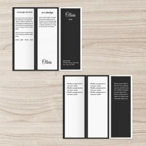 Custom Business Brochure Three-fold , Black White