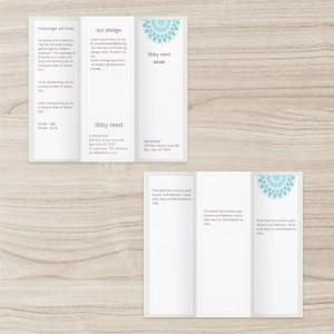 Skin Care Business brochure three-fold