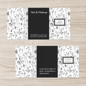 """Flowers"" Hair&Makeup brochure three-fold"