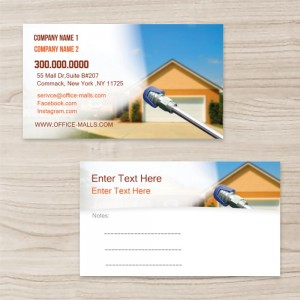 """""""Cleaning and Washing""""""""House"""" Horizontal Rectangle  Business Card , White, Quantity 100 sheets per pack"""