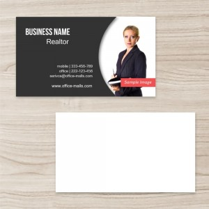 """""""Business""""""""Professional""""""""Realtor""""""""Photo""""  Horizontal Rectangle Business Card  , White and Black, Quantity 100 sheets per pack"""