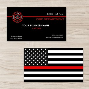 """American Flag"" Horizontal Rectangle Business Card  ,Black White and Red, Quantity 100 sheets per pack"