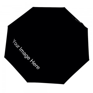 Customize Three fold Automatic Umbrella Black Color