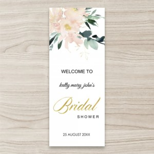 """Floral Bridal"" PULL UP/ RETRACTABLE BANNER"
