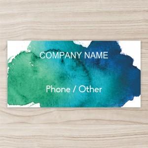 """Company"" Horizontal Vinyl Banner,blue"