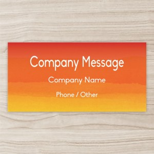 """""""Company"""" Horizontal Vinyl Banner,Orange"""