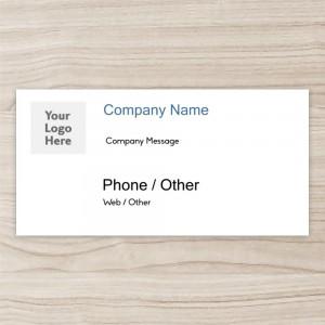 """Company"" Horizontal Vinyl Banner, white ground"