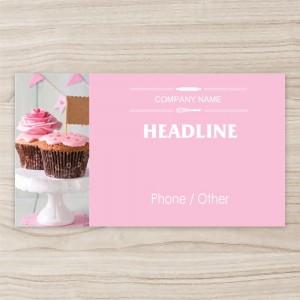 """""""Cake shop""""  Horizontal  Vinyl Banner, pink"""