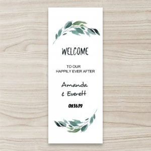 """Happily ever after"" wedding PULL UP/ RETRACTABLE BANNER"