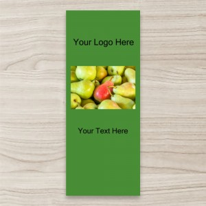 """Fruit Pears"" Green Background  PULL UP/ RETRACTABLE BANNER"