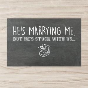 """Blackboard"" ""chalk"" Wedding Invitation , Horizontal, Single Sided, 50 sheets per pack"
