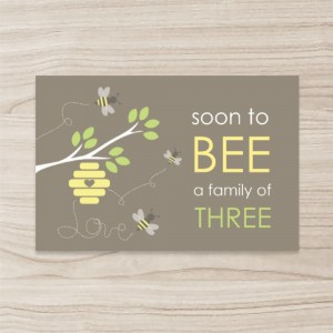 """Bee"" Flat Card / Postcard/Invitation , Horizontal, Single Sided, 50 sheets per pack"