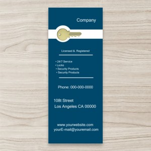 """Key, Lock Service"" Pull up/ Retractable Banner, Blue Background"