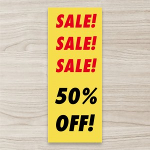 """Sale! Sale!"" PULL UP/ RETRACTABLE BANNER , Yellow Background"