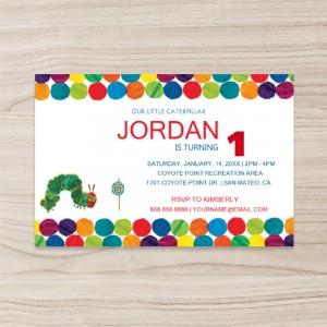 """Colorful balls"" Birthday Invitation , Horizontal, Single Sided, 50 sheets per pack"