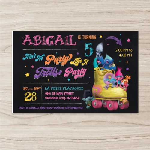 """Cartoon"" Birthday Invitation , Horizontal Single Sided, 50 sheets per pack"
