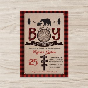"""animals"" for boy Baby Shower Invitation , Vertical Single Sided ,50 sheets per pack"