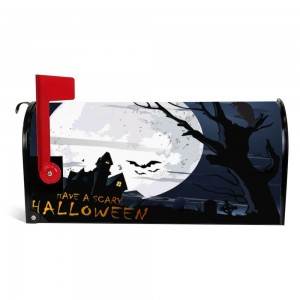 """House"" ""Moon"" Halloween Mailbox Cover Sticker , Dark"